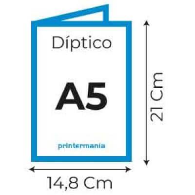 Dípticos A5 (14,8 X 21 cm)
