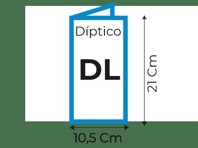 Díptico DL 105×210 mm