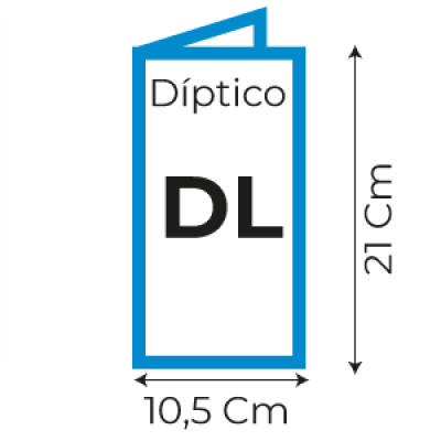 Díptico DL 105×210 mm