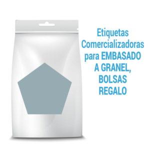etiquetas para envasado a granel bolsas