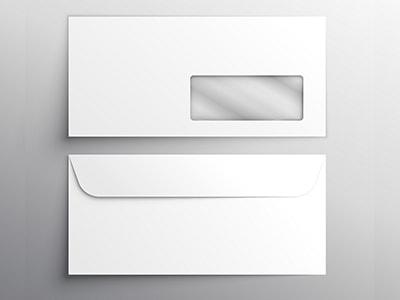 Sobres sin impresión 115×225 mm. con ventana