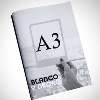 Copistería online Blanco y Negro A3