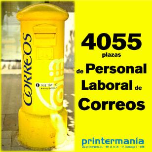 Convocatoria 4055 plazas Personal Laboral Correos 2019