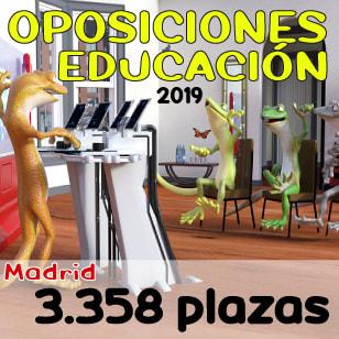 Oposiciones Maestro Comunidad de Madrid 2019 con 3.528 plazas
