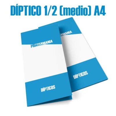 Dípticos publicitario medio A4 (vertical 105×297)