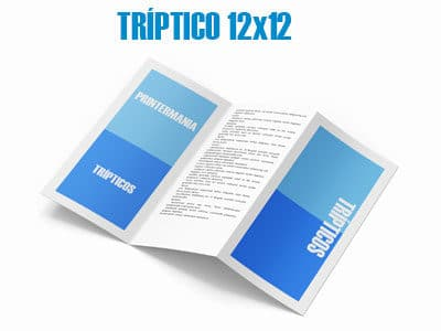 tripticos publicitarios 12x12