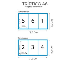 triptico A6 medidas