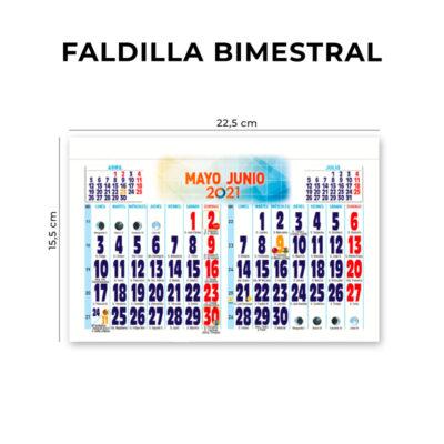 calendario faldilla 2021 23.5 cm