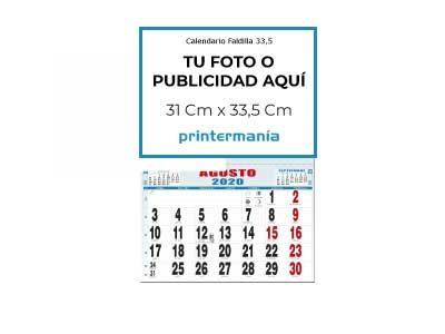 Calendario de pared faldilla mensual 33.5 cm