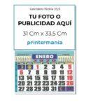calendario faldilla 33,5 personalizable