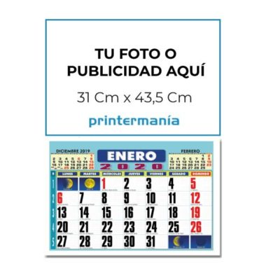 Calendario de pared faldilla 43,5 con tu foto