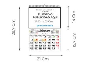 CALENDARIOS PARED A4 13 LÁMINAS
