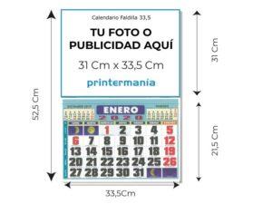 medidas calendario 33,5