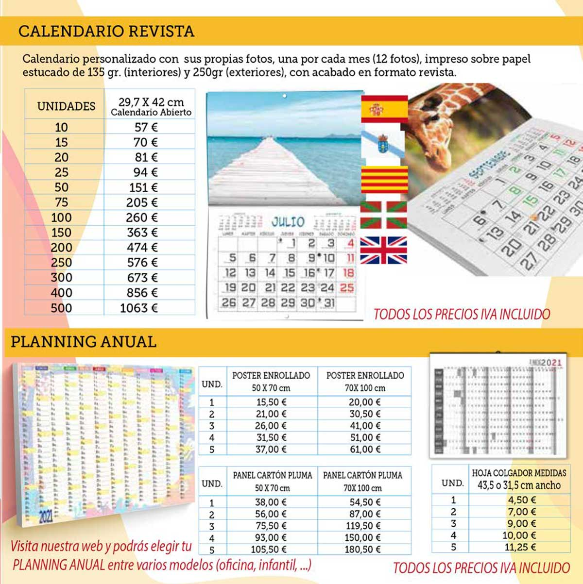calendario revista personalizado printermania