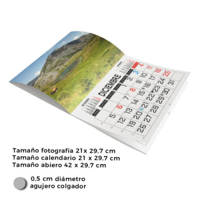 Calendarios pared formato revista