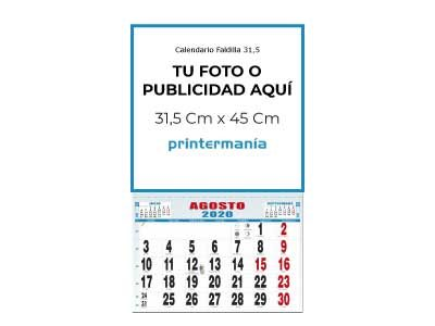 Calendario de pared faldilla mensual 31.5 cm