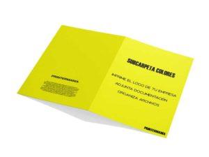 subcarpeta portadocumentos amarilla