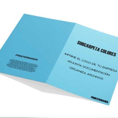subcarpeta portadocumentos colores azul