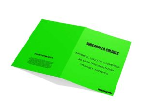 subcarpeta portadocumentos verde