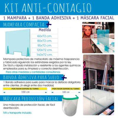precio mamparas mostrador disponibles en kit