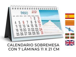 Calendarios sobremesa 7 láminas