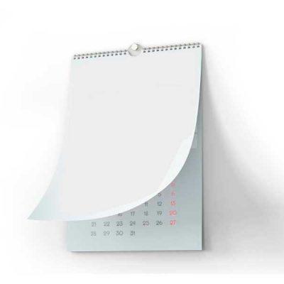 calendario laminas wire-o en blanco con tu diseño