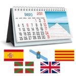 calendarios sobremesa en diferentes idiomas
