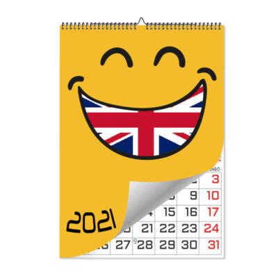 Calendario Láminas Ingles