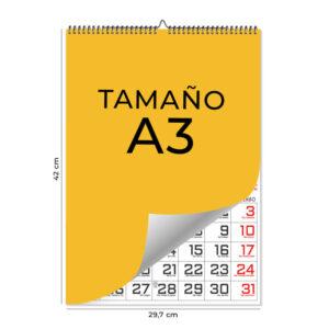 Calendario laminas wire-o A3 2021