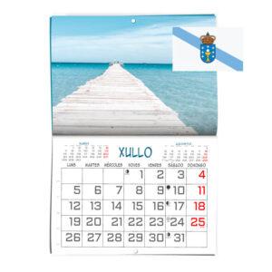 Calendario personalizado formato revista en Gallego