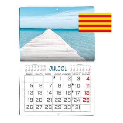 Calendarios pared formato revista en Catalán