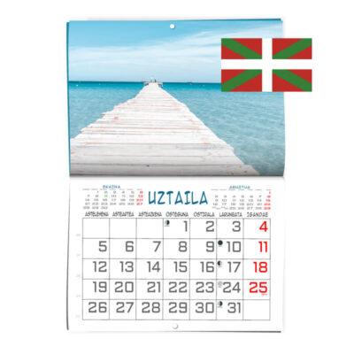 Calendario personalizado formato revista en Euskera