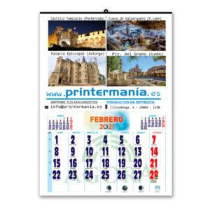 calendario faldilla 2021 personalizable con tus fotos