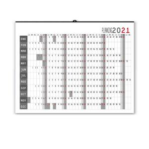 calendario planning de pared personalizado 2021