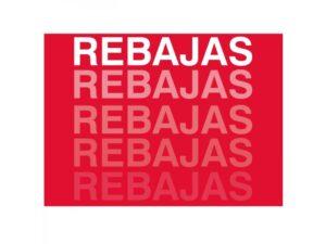 cartel rebajas personalizado con tu logo