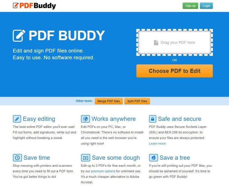 Editor pdf online PDFBuddy