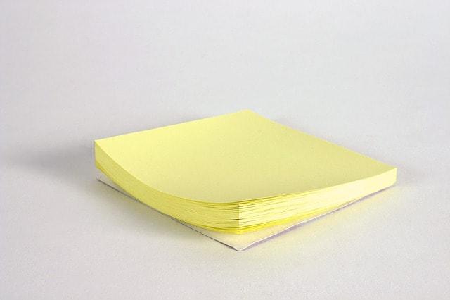 taco de notas post-it