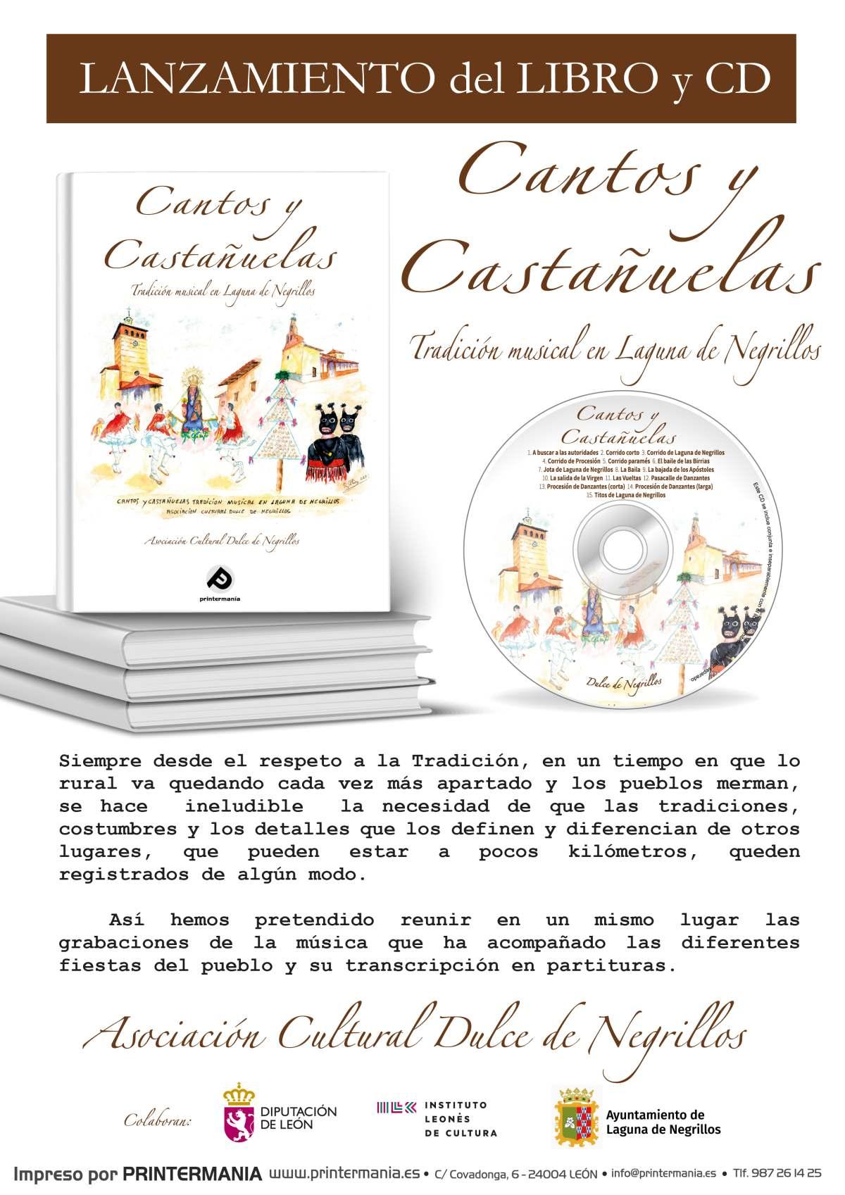 Cartel libro Cantos y Castañuelas