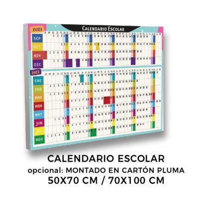 Calendario escolar en cartón pluma